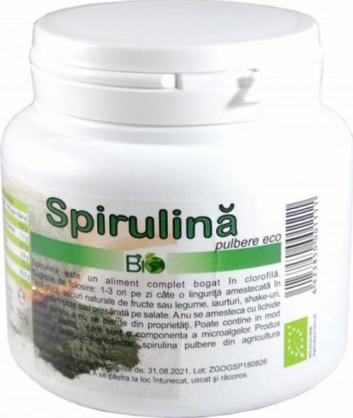 Pulbere Spirulina, bio 250g