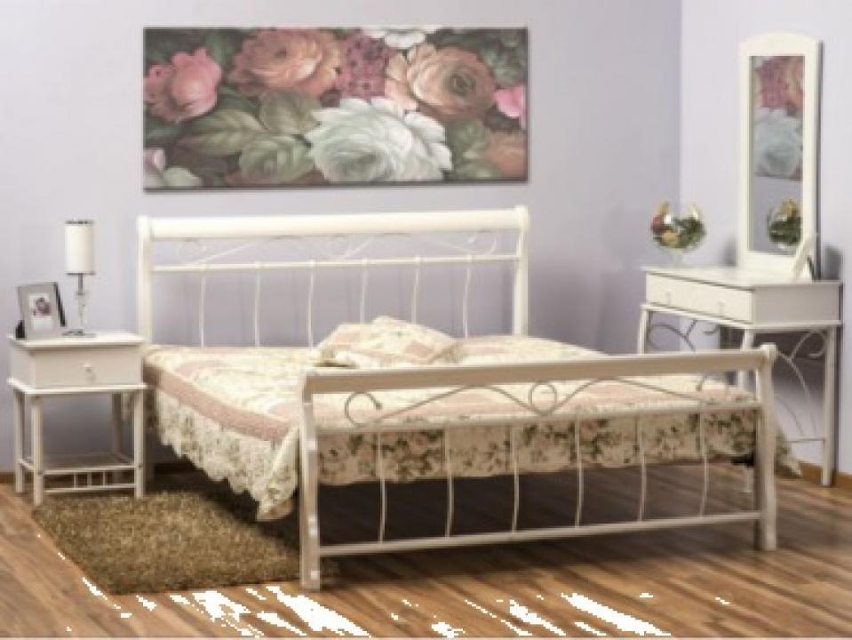 Pat dormitor Venecja 120x200 alb/alb