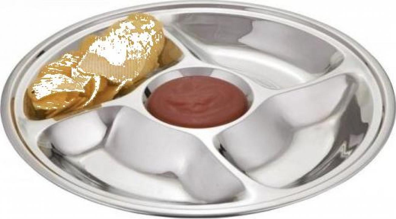 Tava inox Chip and Dip servire nachos si sos 35cm ICD35